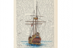 world-watercolor-month-2a-ship-on-dictionary-rebecca_rhodes