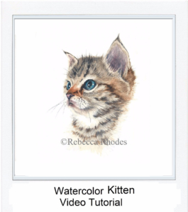 Watercolor Watercolour Tutorial Demo Portrait Pet Cat Kitten